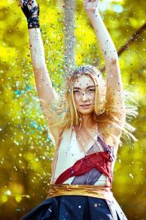 Designer: Barksdale; MUA & Hair: Erica Stewart; Model: Paige @ Wings